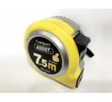 Рулетка вимірювальна 7,5 х 25мм ASSIST PREMIUM (посилений корпус)