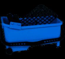 Відро плиточника з роликами з сіткою 16 л Кубала 9907