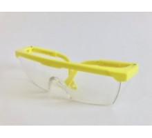 Окуляри захисні прозорі Комфорт  (жовті вушка)