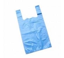 Пакет майка (200 шт) покращена Синя (5 кг)
