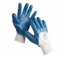 Рукавиці маслостійка синя (мягкий манжет)(12 пар)RNITNL