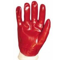 Рукавиці маслостійкі червона Короткий манжет (12 шт/уп)