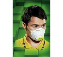 Респіратор жовтий  для нетоксичних забруднень  (10шт/уп) MAS-F-FFP1V W uni (1 уп)