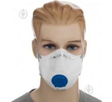 Респіратор синій  з клапаном для слаботоксичних забруднень MAS-F-FFP2V (10 шт/уп) уп (028)