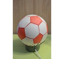 Лампа нічник .Футбольний мяч червоно-білий