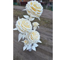 Лампа нічник троянда з 5 квіток в горщику