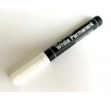 Маркер будівельний перманентний Білий товстий 2,5 мм 8586